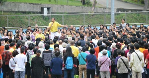 Master Ou Hong Kong Lecture Outdoors